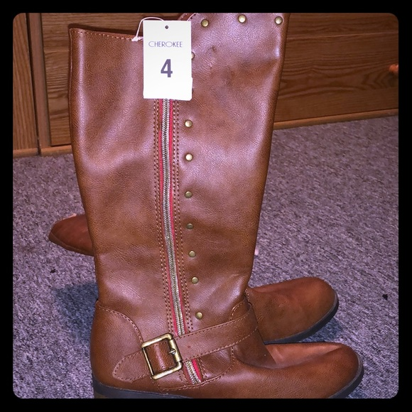 girls tall brown boots